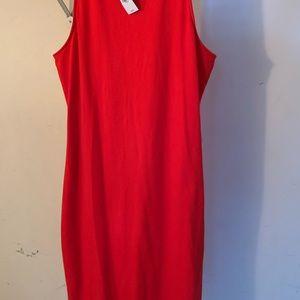 Express Red Midi dress w/ side slits